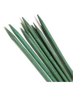 Tuteur en bambou vert divisé (pointu)