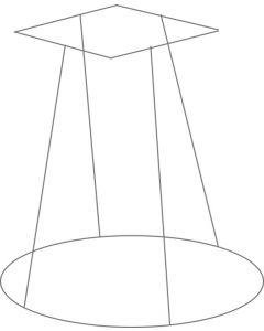 Multi-Formes Square basket support 781-VALC