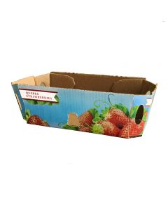 Cardboard basket for strawberries without handle
