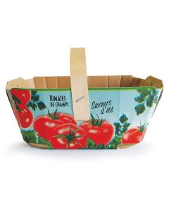 Cardboard for tomatoes with handle 3 L