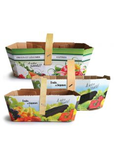 Cardboard for fruits & vegetables with handle