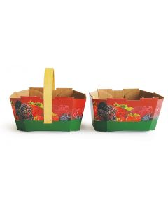 Cardboard basket for berries without handle 500 ml