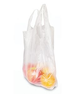 Clear plastic bag with suspenders HD (500 bags/roll)
