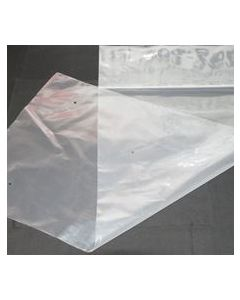 Roll of 250 clear perforated plastic bags 50lbs